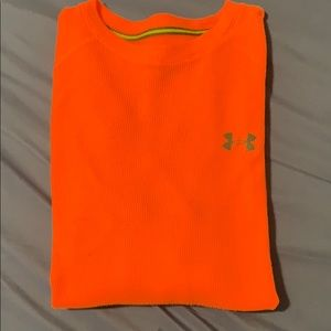 Under armor neon Orange long sleeve shirt Size L